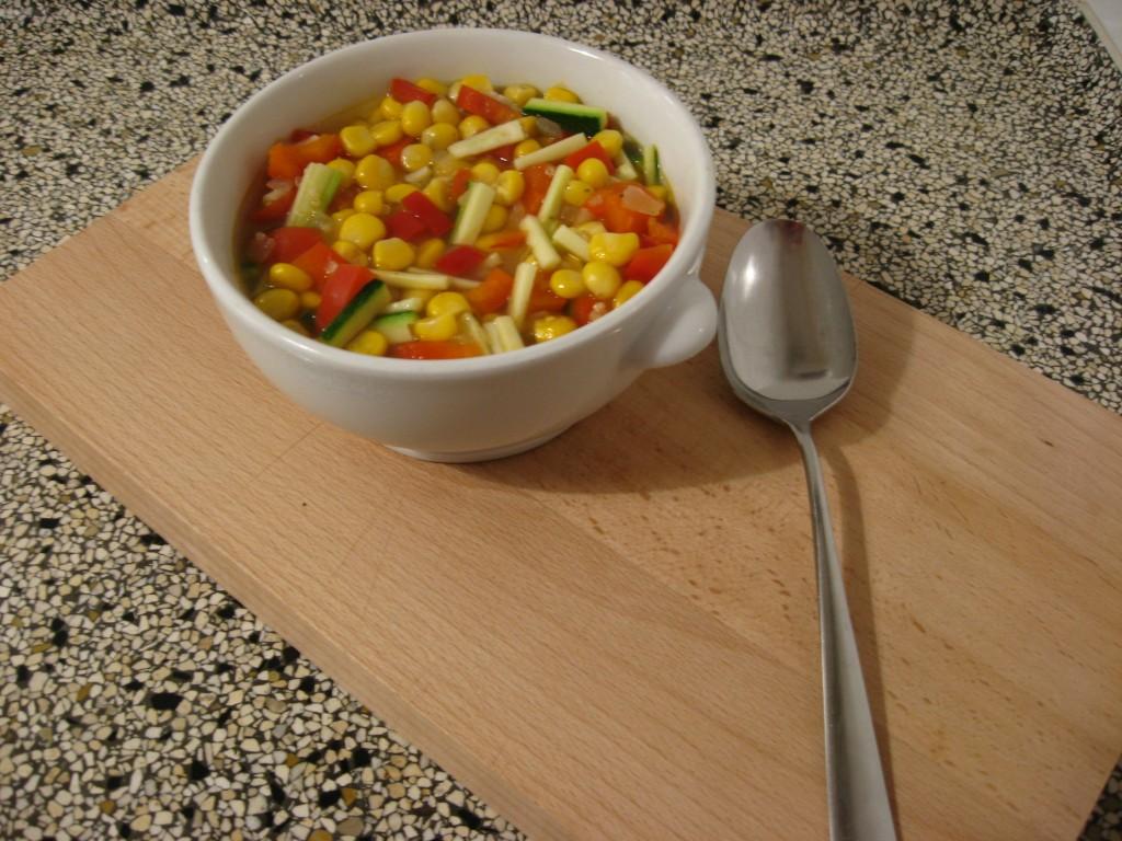 Recept: Mais-Quinoasoep @ Lauriekoek.nl