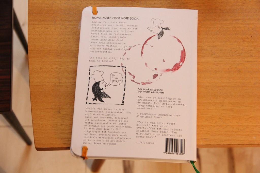home made food note book achterkant @ Lauriekoek