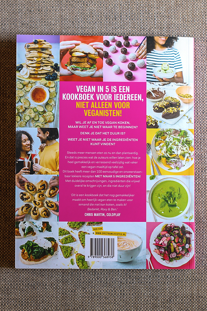 Boekrecensie: Vegan in 5 @ Lauriekoek.nl