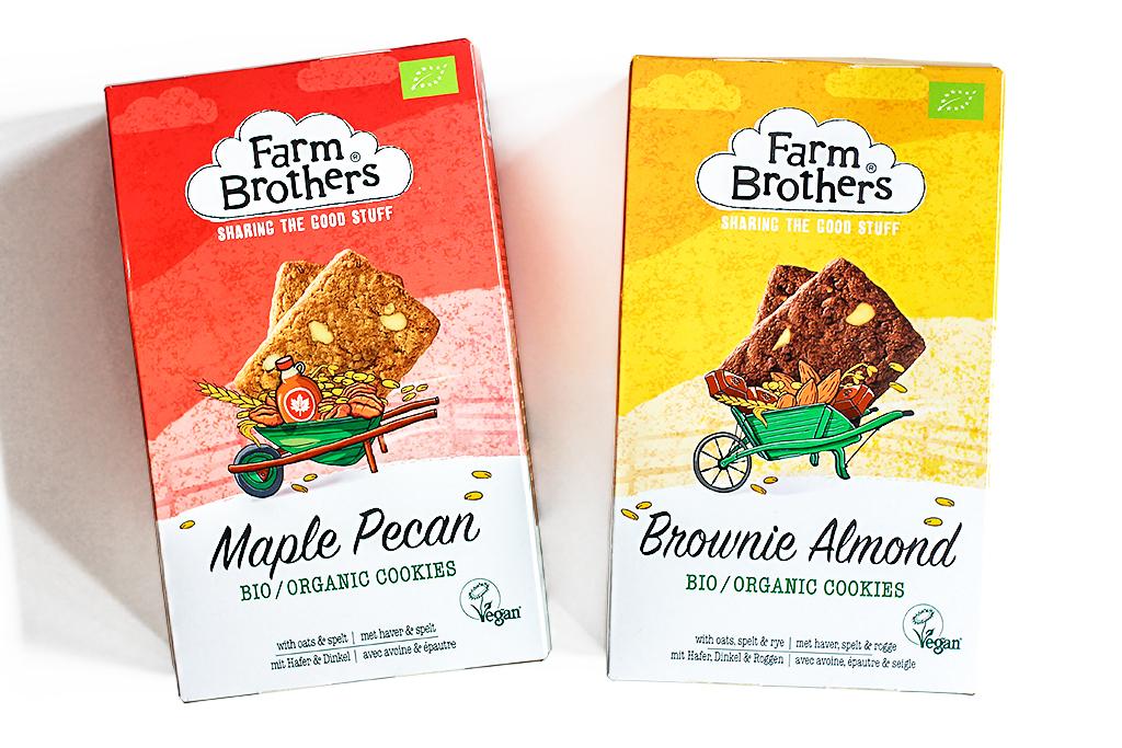 Farm Brothers organic cookies @ Lauriekoek.nl