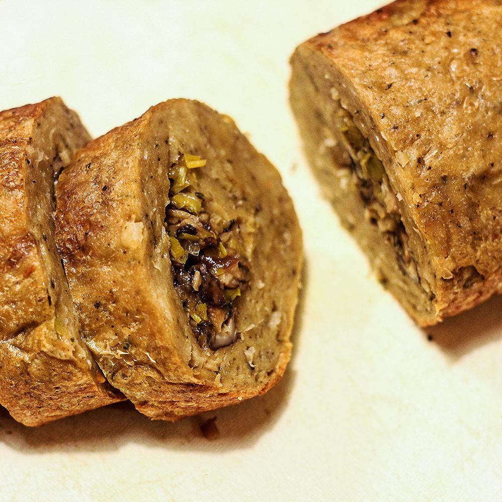 Seitan roast, kerst 2018 @ Lauriekoek.nl