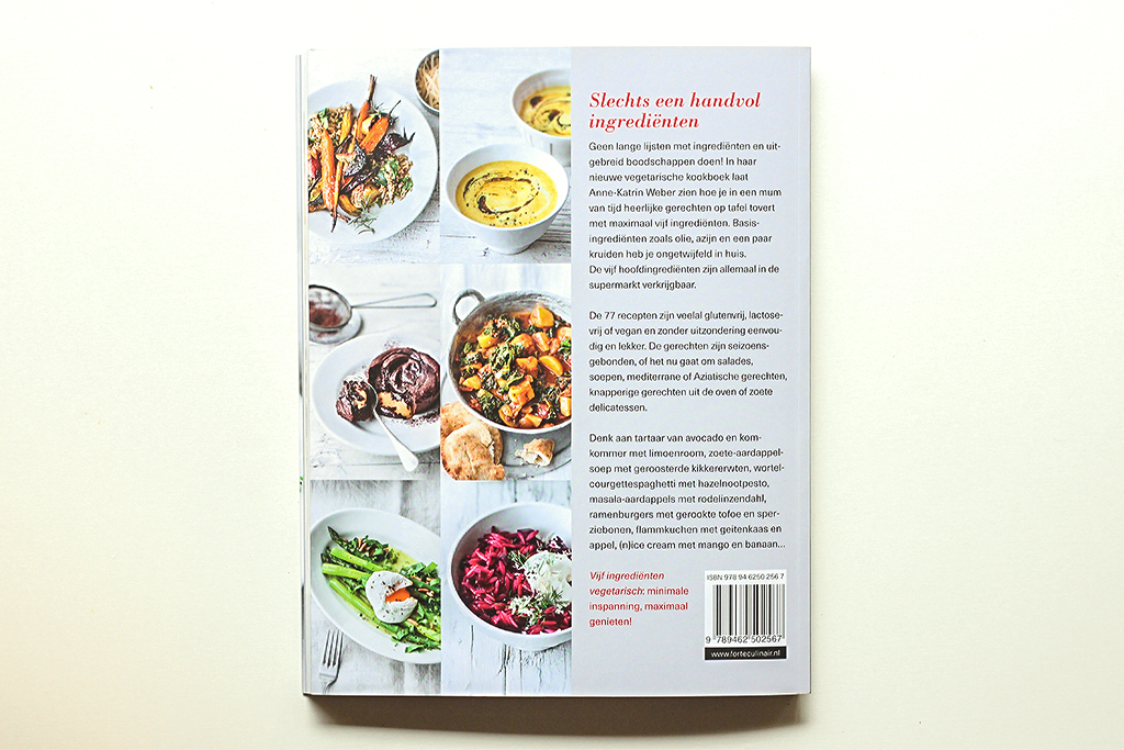 Boekrecensie: Vijf ingrediënten vegetarisch @ Lauriekoek.nl