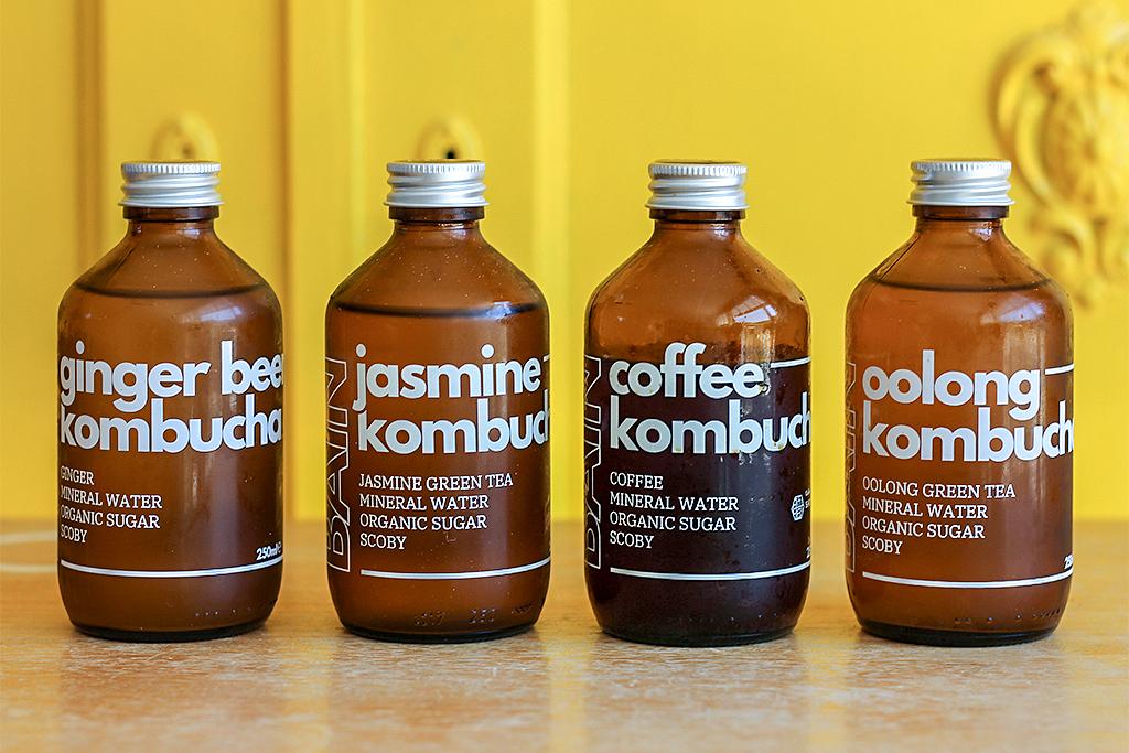 Bain brewing kombucha @ Lauriekoek.nl